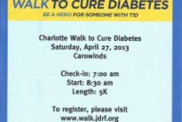 JDRF Hosts  Cure Diabetes Charlotte Walk