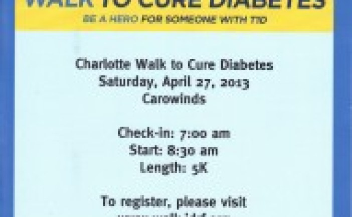 JDRF Hosts  Cure Diabetes Charlotte Walk