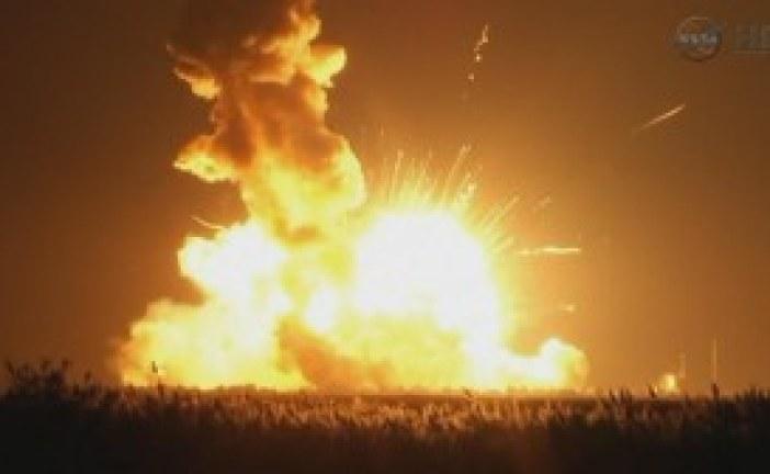 NASA Antares Rocket Explodes Launch Fails