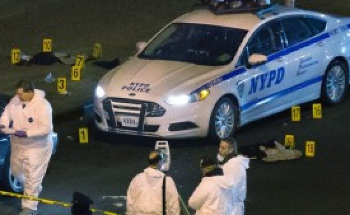 NYPD Policemen Assassinated Brooklyn Borough Shocked