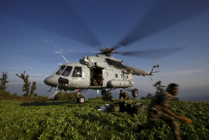 napal earthquake helicopter crash