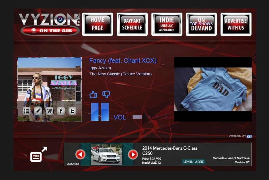 Vyzion Radio Player