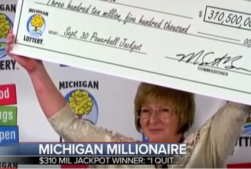 Julie Leach Wins $310 Million Dollar Michigan Lottery