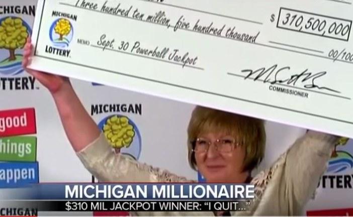 Julie Leach Wins $310 Million Dollar Michigan Lottery
