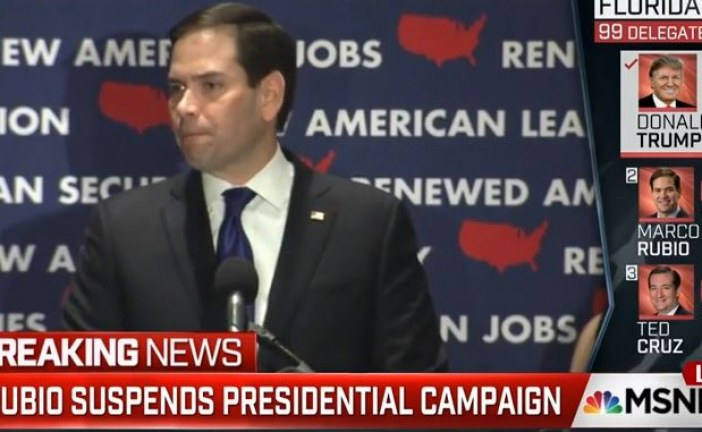 Marco Rubio Bows Out Suspends Election Campaign